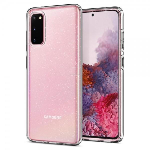 Чехол-капсула для Galaxy S20 - Spigen - SGP - Liquid Crystal Glitter