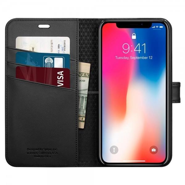 Чехол-книжка для iPhone XS / X - Spigen - SGP - Wallet S