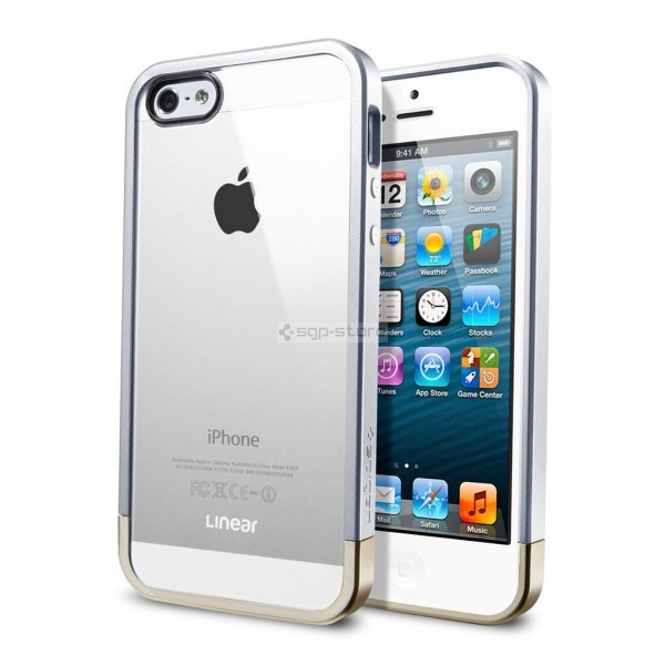 Чехол для iPhone SE / 5s / 5 - Spigen - SGP - Liner Crystal Metal