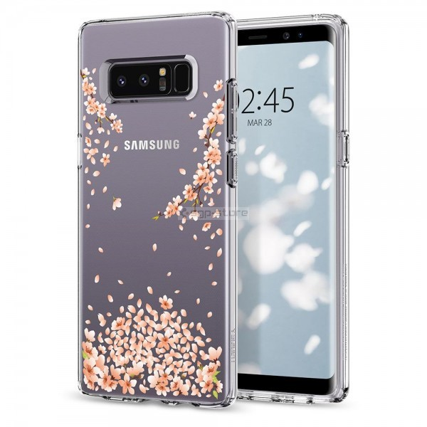 Чехол-капсула для Galaxy Note 8 - Spigen - SGP - Liquid Crystal Flower