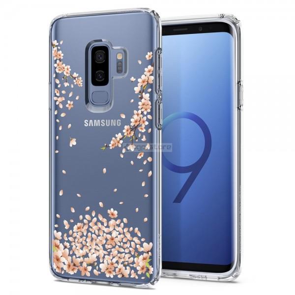 Чехол-капсула для Galaxy S9 Plus - Spigen - SGP - Liquid Crystal Blossom