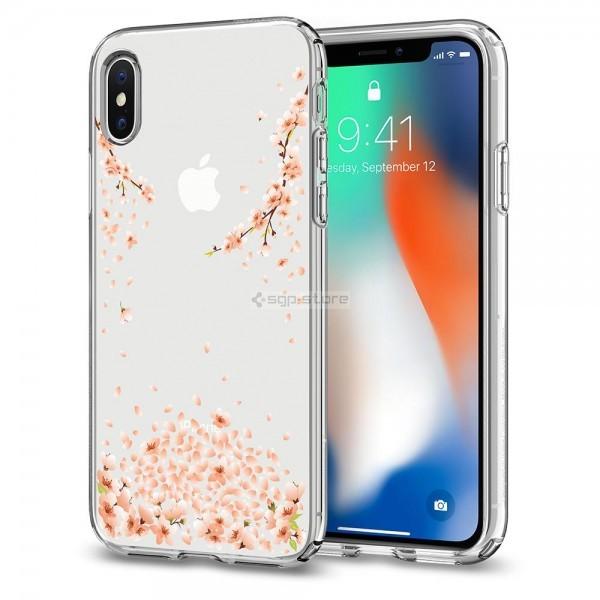 Чехол-капсула для iPhone XS / X - Spigen - SGP - Liquid Crystal Blossom