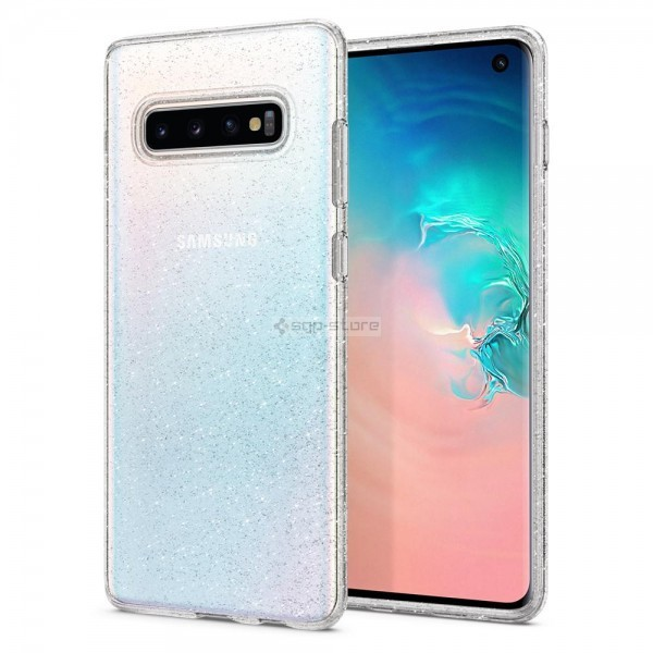 Чехол-капсула для Galaxy S10 - Spigen - SGP - Liquid Crystal Glitter