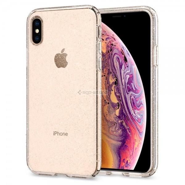 Чехол-капсула для iPhone XS / X - Spigen - SGP - Liquid Crystal Glitter