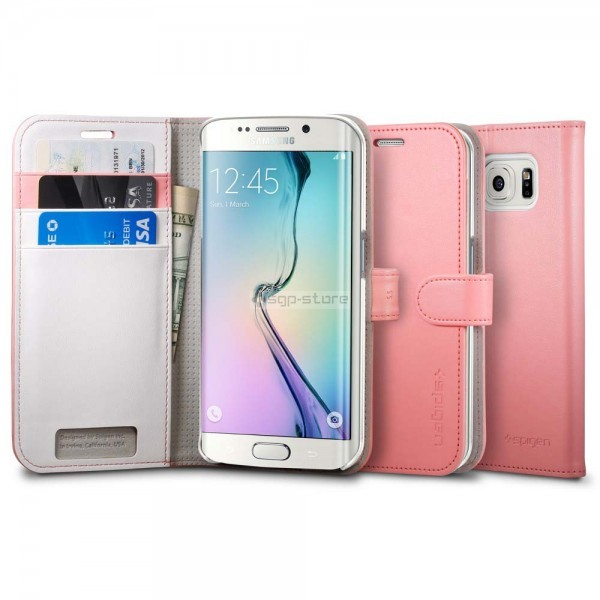 Чехол-книжка для Galaxy S6 Edge - Spigen - SGP - Wallet S