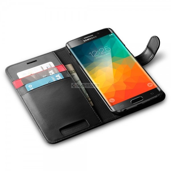 Чехол-книжка для Galaxy S6 Edge Plus - Spigen - SGP - Wallet S