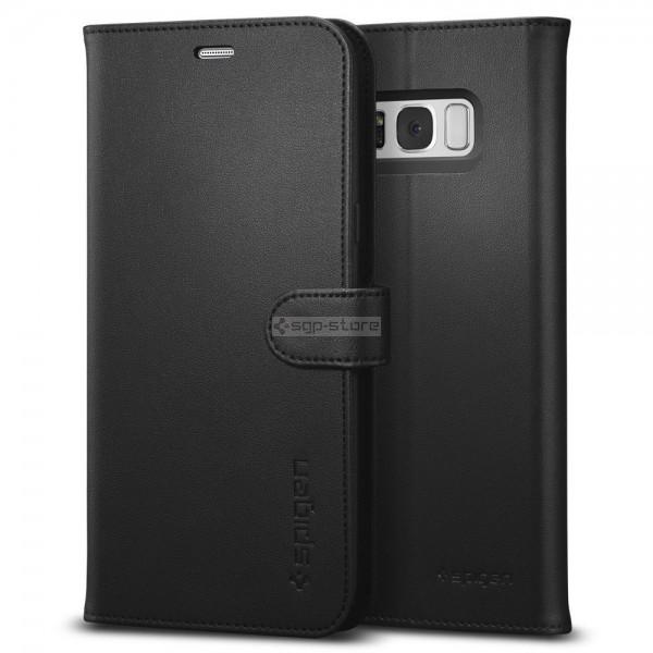 Кожаный чехол-книжка для Galaxy S8 - Spigen - SGP - Wallet S