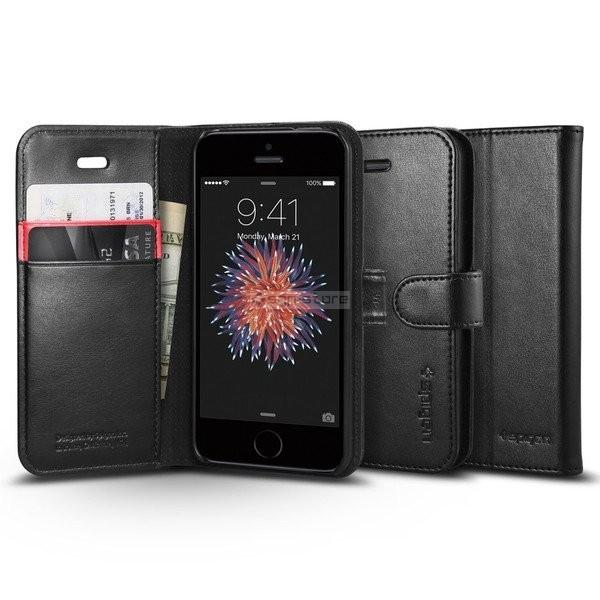 Чехол-книжка для iPhone SE / 5s / 5 - Spigen - SGP - Wallet S