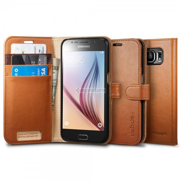 Чехол-книжка для Galaxy S6 - Spigen - SGP - Wallet S