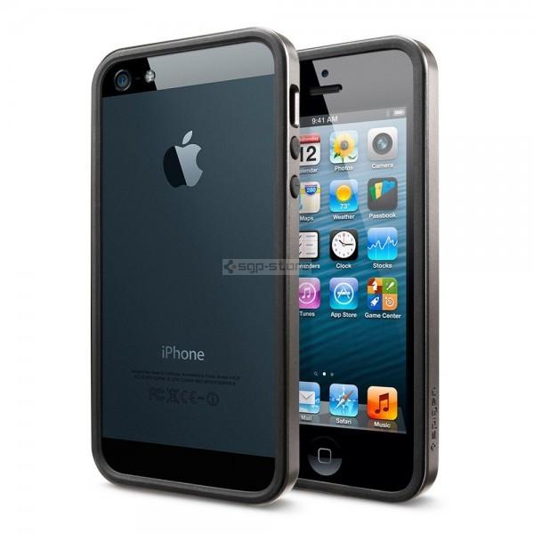 Бампер для iPhone SE / 5s / 5 - Spigen - SGP - Neo Hybrid EX Slim Metal