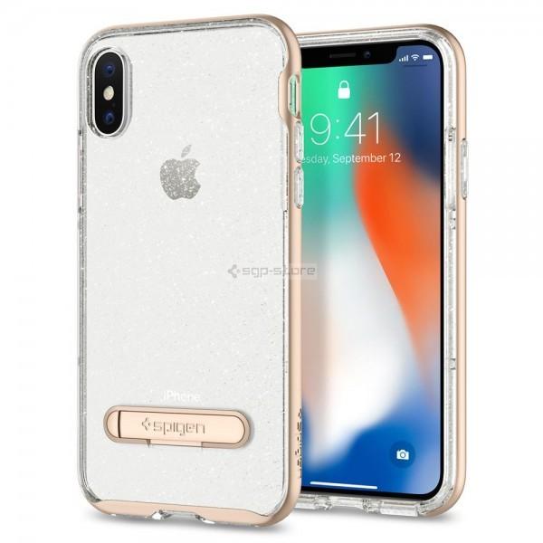 Чехол с подставкой для iPhone XS / X - Spigen - SGP - Crystal Hybrid Glitter