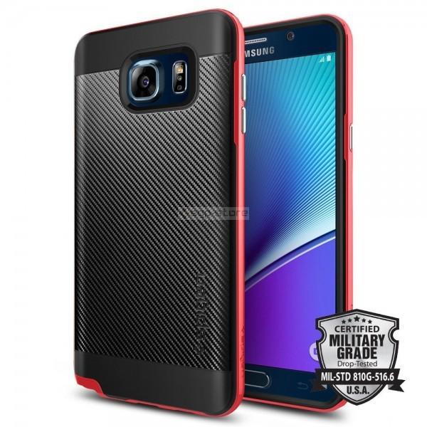 Чехол для Galaxy Note 5 - Spigen - SGP - Neo Hybrid Carbon