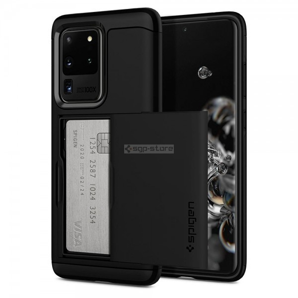 Чехол-визитница для Galaxy S20 Ultra - Spigen - SGP - Slim Armor CS