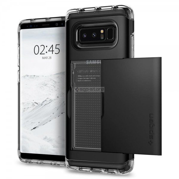 Чехол-визитница для Galaxy Note 8 - Spigen - SGP - Crystal Wallet