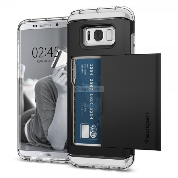 Чехол-визитница для Galaxy S8 Plus - Spigen - SGP - Crystal Wallet