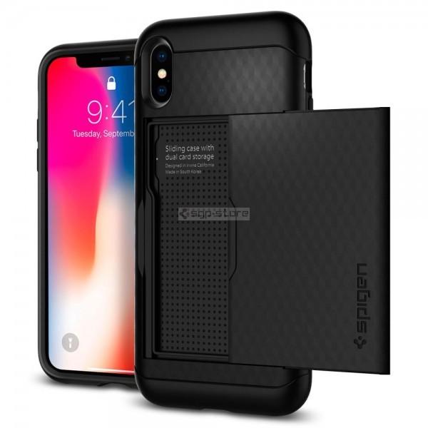 Чехол-визитница для iPhone XS / X - Spigen - SGP - Crystal Wallet