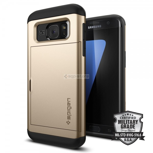 Чехол-визитница для Galaxy S7 Edge - Spigen - SGP - Slim Armor CS