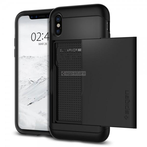 Чехол-визитница для iPhone XS / X - Spigen - SGP - Slim Armor CS