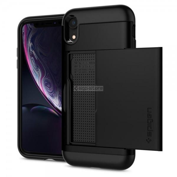 Чехол-визитница для iPhone XR - Spigen - SGP - Slim Armor CS
