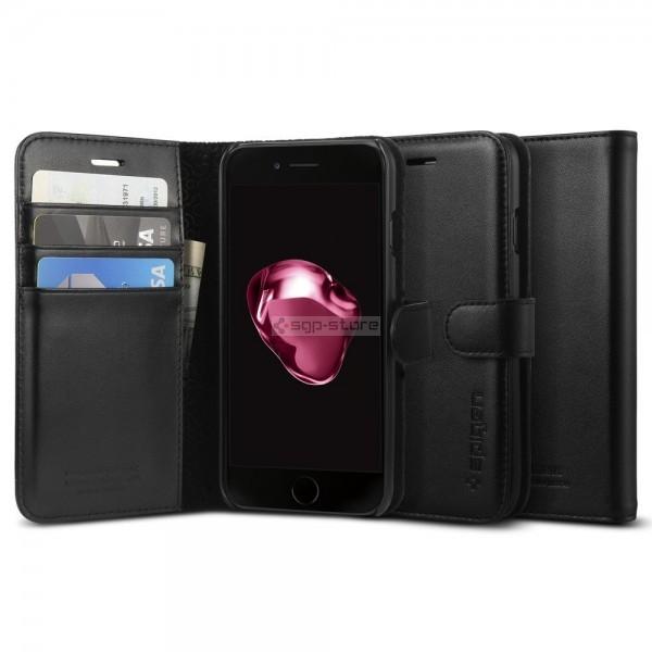Кожаный чехол-книжка для iPhone SE (2020) / 8 / 7 - Spigen - SGP - Valentinus
