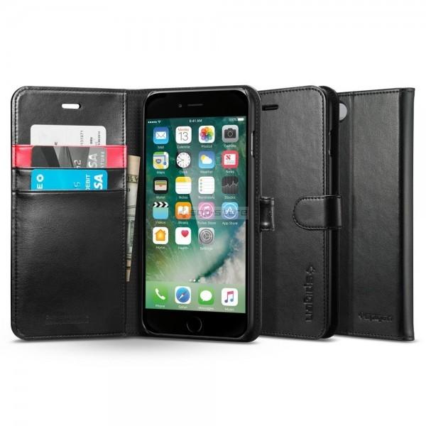 Кожаный чехол-книжка для iPhone SE (2020) / 8 / 7 - Spigen - SGP - Wallet S