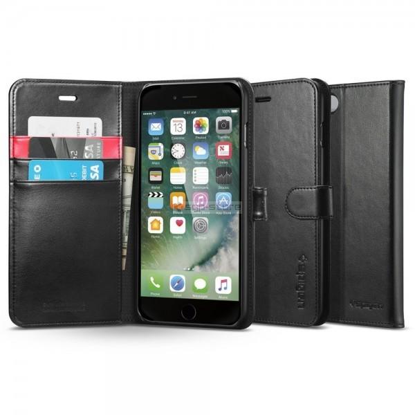Кожаный чехол-книжка для iPhone 8 Plus / 7 Plus - Spigen - SGP - Wallet S
