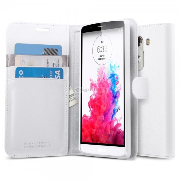 Чехол книжка для LG G3 - Spigen - SGP - Wallet S