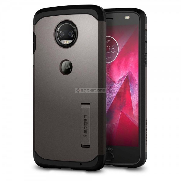 Ударопрочный чехол для Moto Z2 Force Edition - Spigen - SGP - Tough Armor